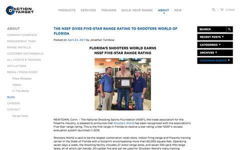 Screenshot of Blog actiontarget.com - Blog | Action Target - captured July 16, 2017