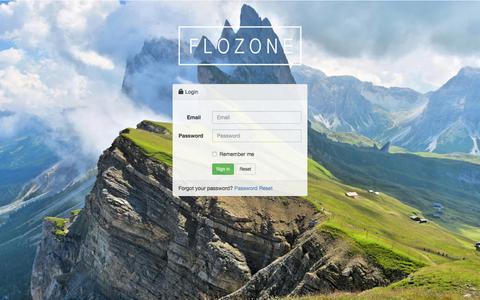 Screenshot of Login Page flozone.com - Flozone - captured Feb. 10, 2016