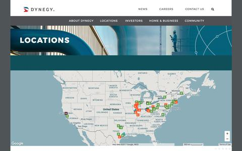 Screenshot of Locations Page dynegy.com - Locations | dynegy.com - captured June 5, 2017