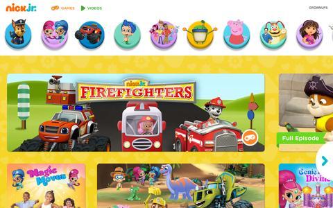 Screenshot of Home Page nickjr.com - Preschool Games, Nick Jr Show Full Episodes, Video Clips on Nick Jr. - captured Sept. 28, 2015