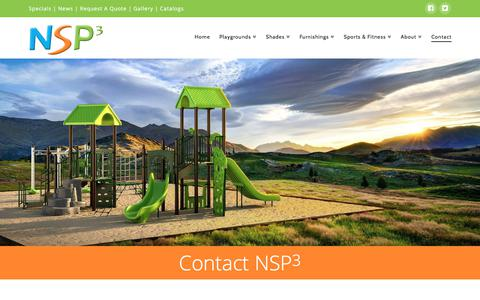 Screenshot of Contact Page nspx3.com - Contact | NSP3 - Northstate Playgrounds - captured June 22, 2017