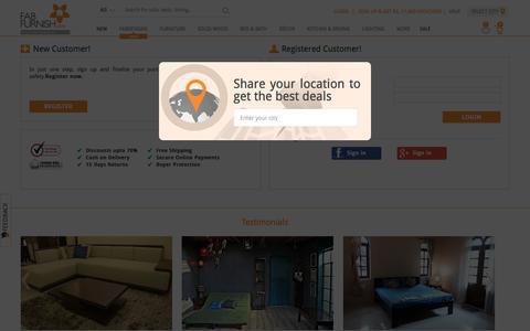 Screenshot of Login Page fabfurnish.com - Login or create an account - captured Nov. 2, 2015