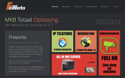 Screenshot of Home Page friworks.nl - Home - captured Jan. 29, 2015