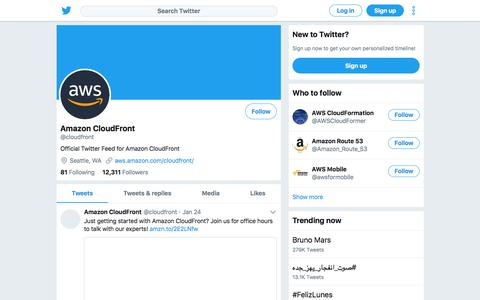 Tweets by Amazon CloudFront (@cloudfront) – Twitter