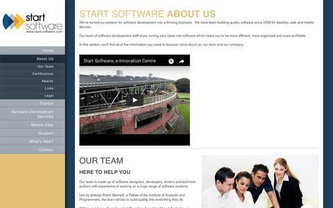Screenshot of About Page start-software.com - Start Software - Software Development Services - About Us - captured Sept. 21, 2018