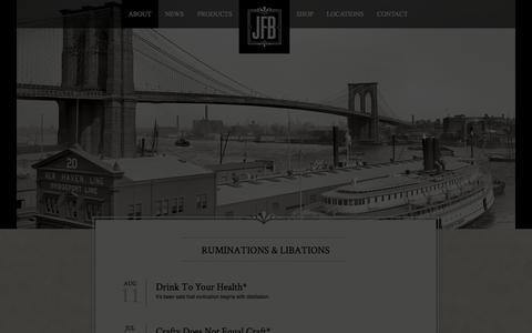 Screenshot of Blog jackfrombrooklyn.com - Ruminations & Libations | Jack From Brooklyn - captured Sept. 30, 2014