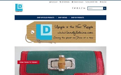 Screenshot of Home Page landfilldzine.com - Landfill Dzine - captured Sept. 29, 2014