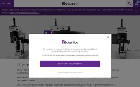 Screenshot of Home Page scientifica.uk.com - Scientifica | Built with Neuroscience in Mind - captured Oct. 2, 2018