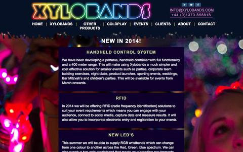 Screenshot of Press Page xylobands.com - News | Xylobands - captured Oct. 26, 2014