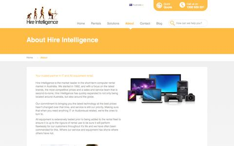 Screenshot of About Page hire-intelligence.com.au - About Hire Intelligence Australia - captured Nov. 10, 2016