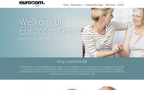 Screenshot of Home Page eurocom-group.eu - Eurocom Group - captured Sept. 30, 2014