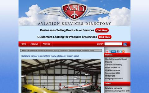 Screenshot of Home Page aviationservicesdirectory.com - Aviationservicesdirectory: Aircraft Repair Maintenance Services in USA and Canada. - captured Dec. 6, 2019