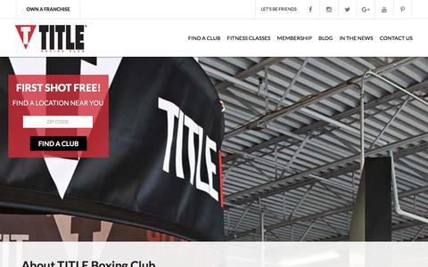 Screenshot of About Page titleboxingclub.com - TITLE Boxing Club  |  About Our Health Club | TITLE Boxing Club - captured Jan. 5, 2016