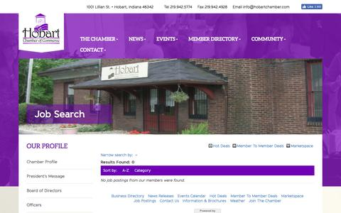 Screenshot of Jobs Page hobartchamber.com - Job Search - Hobart Chamber of Commerce - captured Nov. 10, 2016