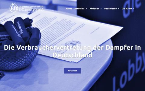 Screenshot of Home Page ig-ed.org - Interessengemeinschaft E-Dampfen e.V. - captured March 4, 2018