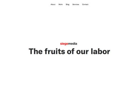 Content Marketing Portfolio - Siege Media