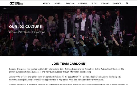 Screenshot of Jobs Page grantcardone.com - Join Grant Cardone and Team Cardone! - captured Sept. 20, 2018