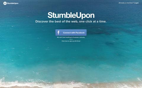 Screenshot of Login Page stumbleupon.com - StumbleUpon - captured Jan. 20, 2016