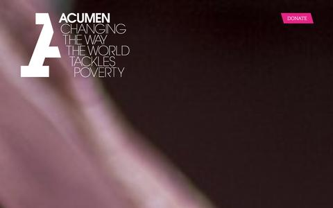 Screenshot of Home Page acumen.org - Acumen is a Bold New Way of Tackling Poverty - captured Dec. 16, 2015