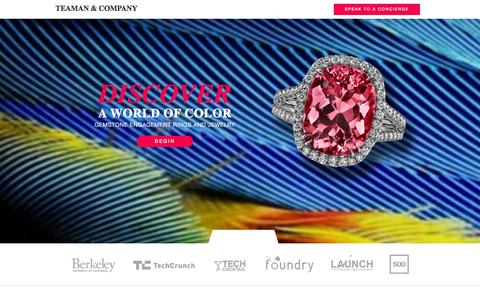 Screenshot of Home Page teamanco.com - Teaman & Company - captured Oct. 6, 2014
