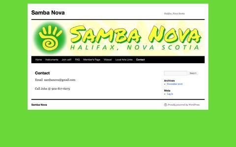 Screenshot of Contact Page sambanova.org - Contact | Samba Nova - captured Oct. 5, 2017