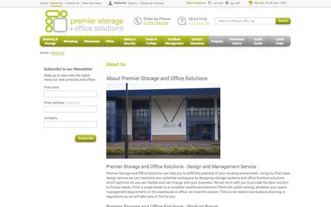 Screenshot of About Page premier-storage.co.uk - Premier Storage and Office Solutions in Doncaster, South Yorkshire  - Premier Storage - captured Oct. 3, 2014