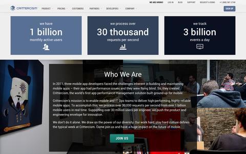Screenshot of Jobs Page crittercism.com - Careers | Crittercism - captured Sept. 16, 2014