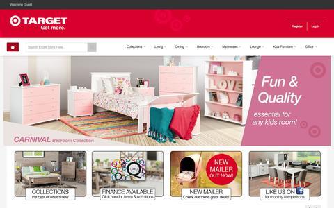Screenshot of Home Page targetfurniture.co.nz - Target Furniture NZ - captured June 19, 2015