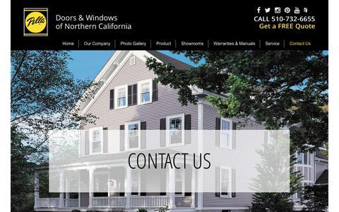 Screenshot of Contact Page pellanorcal.com - Pella Doors & Windows of Northern California   –  Contact Us - captured July 20, 2017