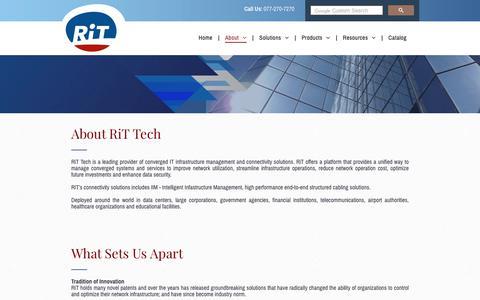 Screenshot of About Page rittech.com - RiT Tech Ltd. | About - captured Nov. 3, 2018