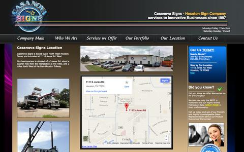 Screenshot of Maps & Directions Page casanovasigns.com - Northwest Houston Sign Company | Houston Custom Signs | Installation Maintenance - Casanova Signs - captured Sept. 30, 2014