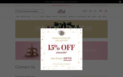 Screenshot of Contact Page ahalife.com - Contact Us | AHAlife - captured Dec. 9, 2017