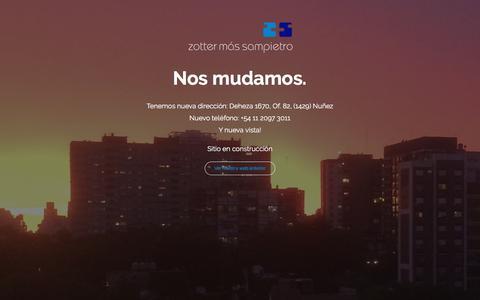 Screenshot of Home Page zottersampietro.com.ar - Zotter Sampietro - Sitio en construcción - captured June 11, 2017