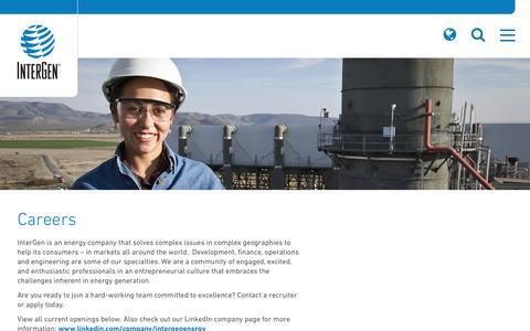 Screenshot of Jobs Page intergen.com - Careers   InterGen - captured May 24, 2016