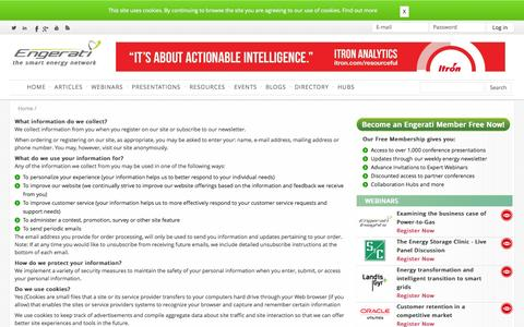 Screenshot of Privacy Page engerati.com - Privacy Policy | Engerati - captured Oct. 2, 2014