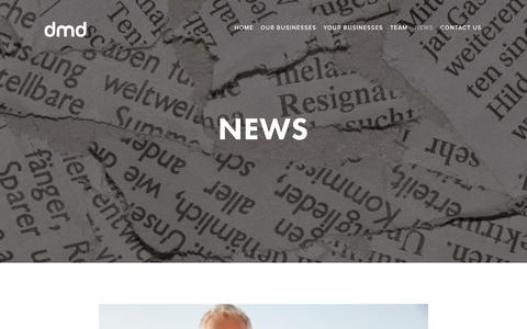Screenshot of Press Page dmdlimited.com - NEWS — Digital Media Distribution - captured Nov. 14, 2018