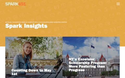 Screenshot of Blog spark451.com - BLOG: Gain Our Insight - Spark451 - captured May 7, 2017