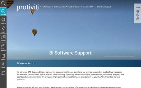 Screenshot of Support Page protiviti.com - BI Software Support | Protiviti - Peru - captured Dec. 3, 2019