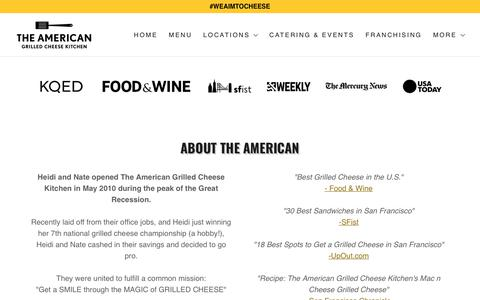 Screenshot of Press Page tagck.com - Press | The American Grilled Cheese Kitchen - captured Oct. 10, 2018