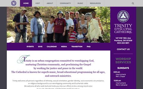 Screenshot of Home Page trinity-episcopal.org - Home - captured Aug. 15, 2015