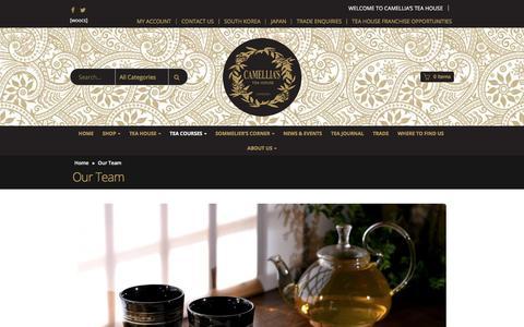 Screenshot of Team Page camelliasteahouse.com - Our Team - Camellias Tea House - captured July 15, 2018