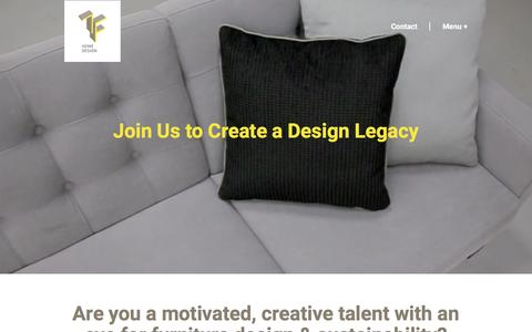 Screenshot of Jobs Page tfhomedesign.com - TF Home Design: Specializes in Customization, Hotels, Offices and Restaurants - captured Aug. 13, 2016