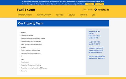 Screenshot of Team Page pearl-coutts.co.uk - Our Property Team   Pearl & Coutts Property Team   London - captured Nov. 1, 2014