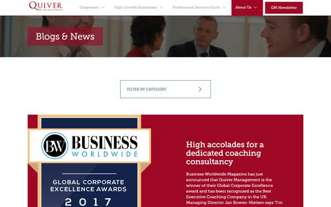 Screenshot of Press Page quivermanagement.com - Blogs & News - Quiver Management - captured Nov. 5, 2018