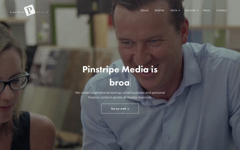 Screenshot of Home Page pinstripemedia.com.au - Pinstripe Media - Small Business and Personal Finance Media - captured April 21, 2018