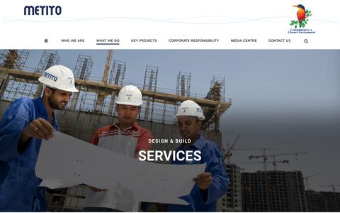 Screenshot of Services Page metito.com - Services - captured Jan. 10, 2016