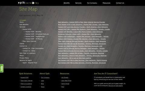 Screenshot of Site Map Page epiknetworks.com - Sitemap • Epik Networks - captured Sept. 30, 2014