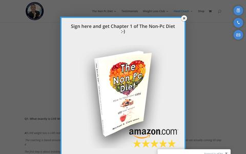 Screenshot of FAQ Page thenonpcdiet.co.uk - FAQ - The Non PC Diet - captured June 18, 2019