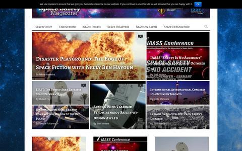 Screenshot of Blog spacesafetymagazine.com - Archive - captured Oct. 26, 2014