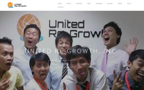 Screenshot of Home Page u-rg.com - ユナイテッド・リグロース株式会社 | United-Re growth,Inc - captured Nov. 16, 2015